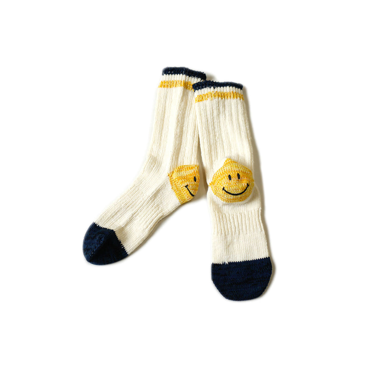 [KAPITAL] 64 YARNS IVY SMILE HEEL HOLD-WELL SOCKS 'WHITE'