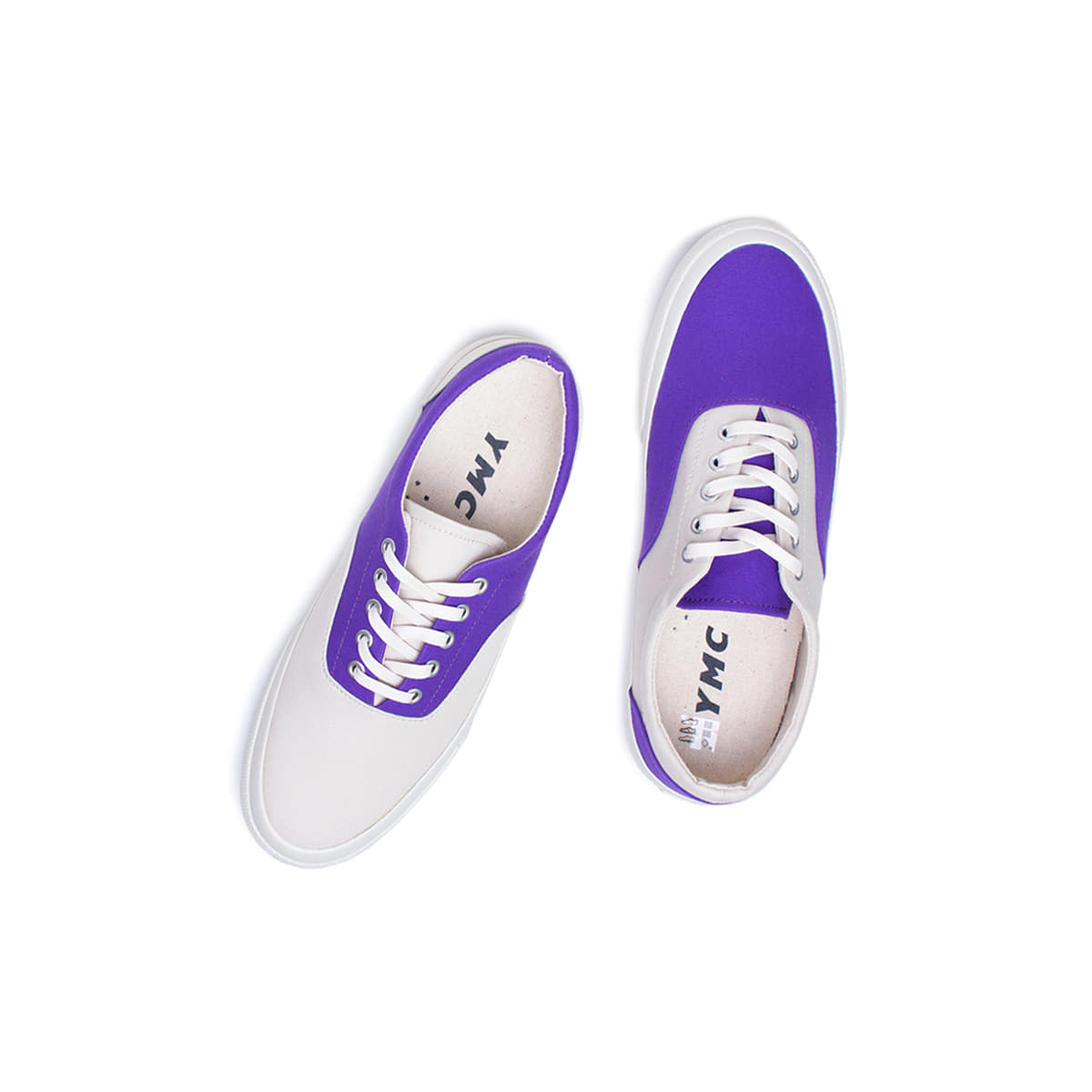 [YMC] 2 TONE TRAINER 'CREAM / PURPLE'