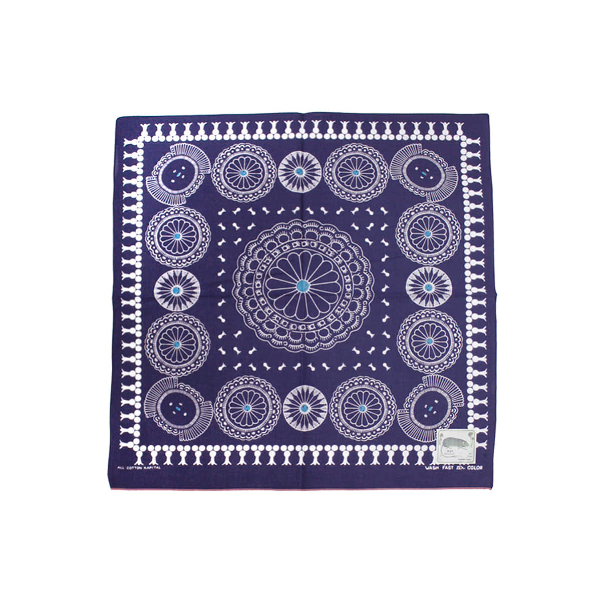 [KAPITAL] FAST COLOR SELVEDGE BANDANA (CONCHO) 'PURPLE'