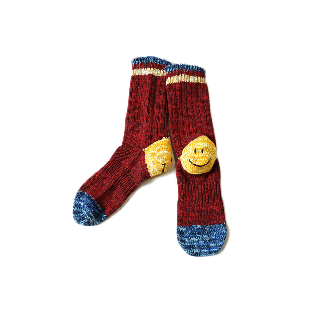 [KAPITAL] 64 YARNS IVY SMILE HEEL HOLD-WELL SOCKS 'RED'