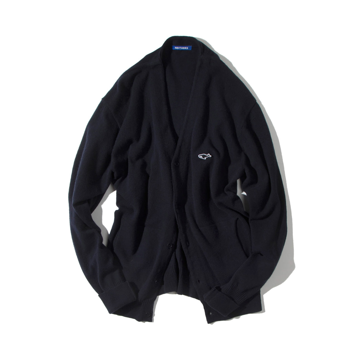 [NEITHERS] MERINO WOOL CARDIGAN 'NAVY'