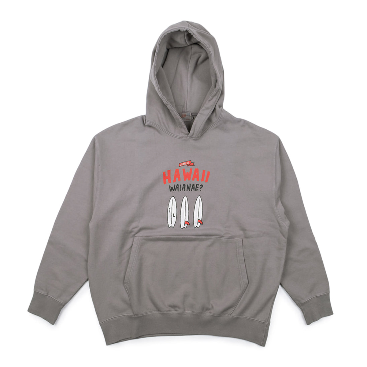 [M.Nii] M.Nii x 1/L HAWAII WIDE HOODED 'GREY'
