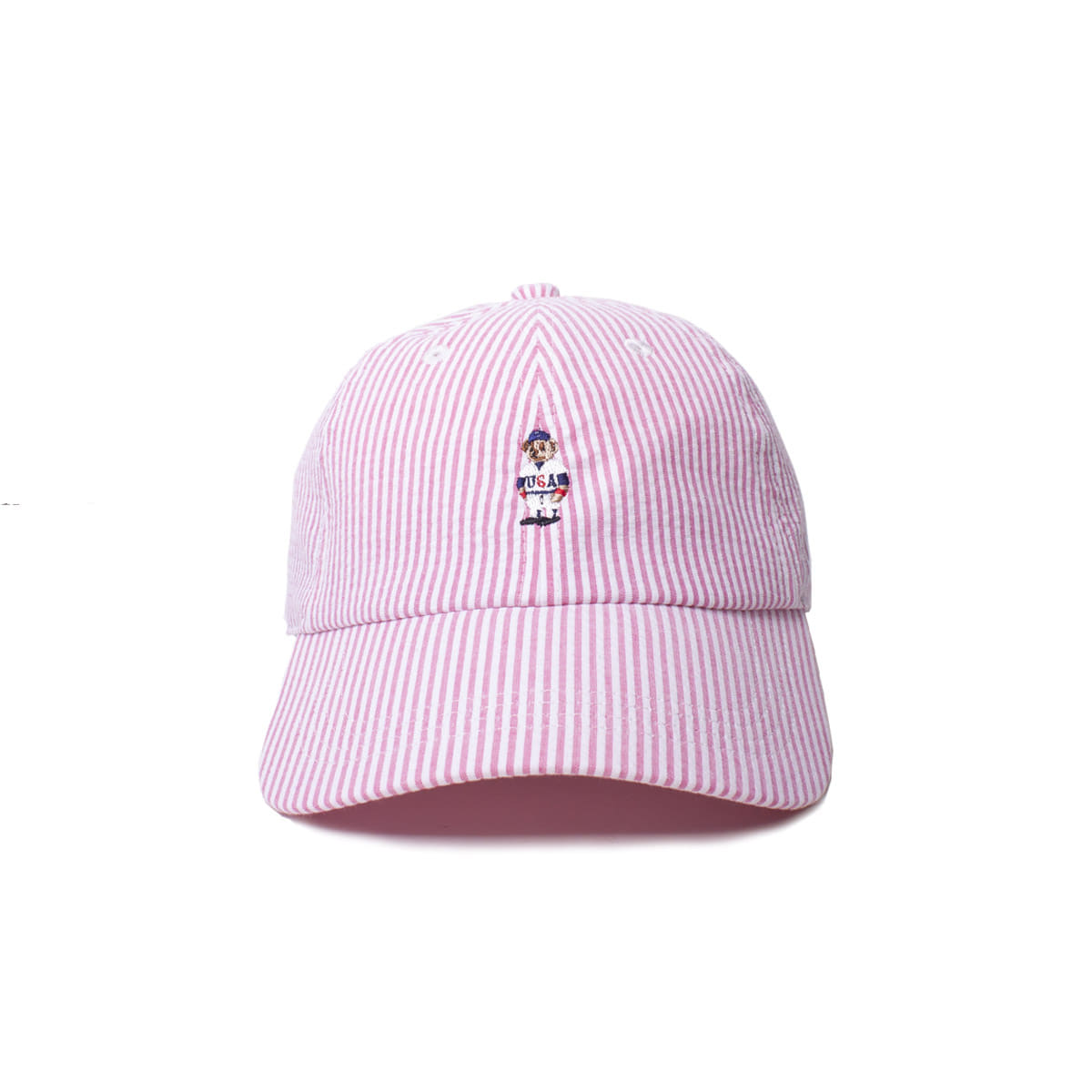 [INFILEDER DESIGN] STRIPRE BEAR CAP 'PINK'