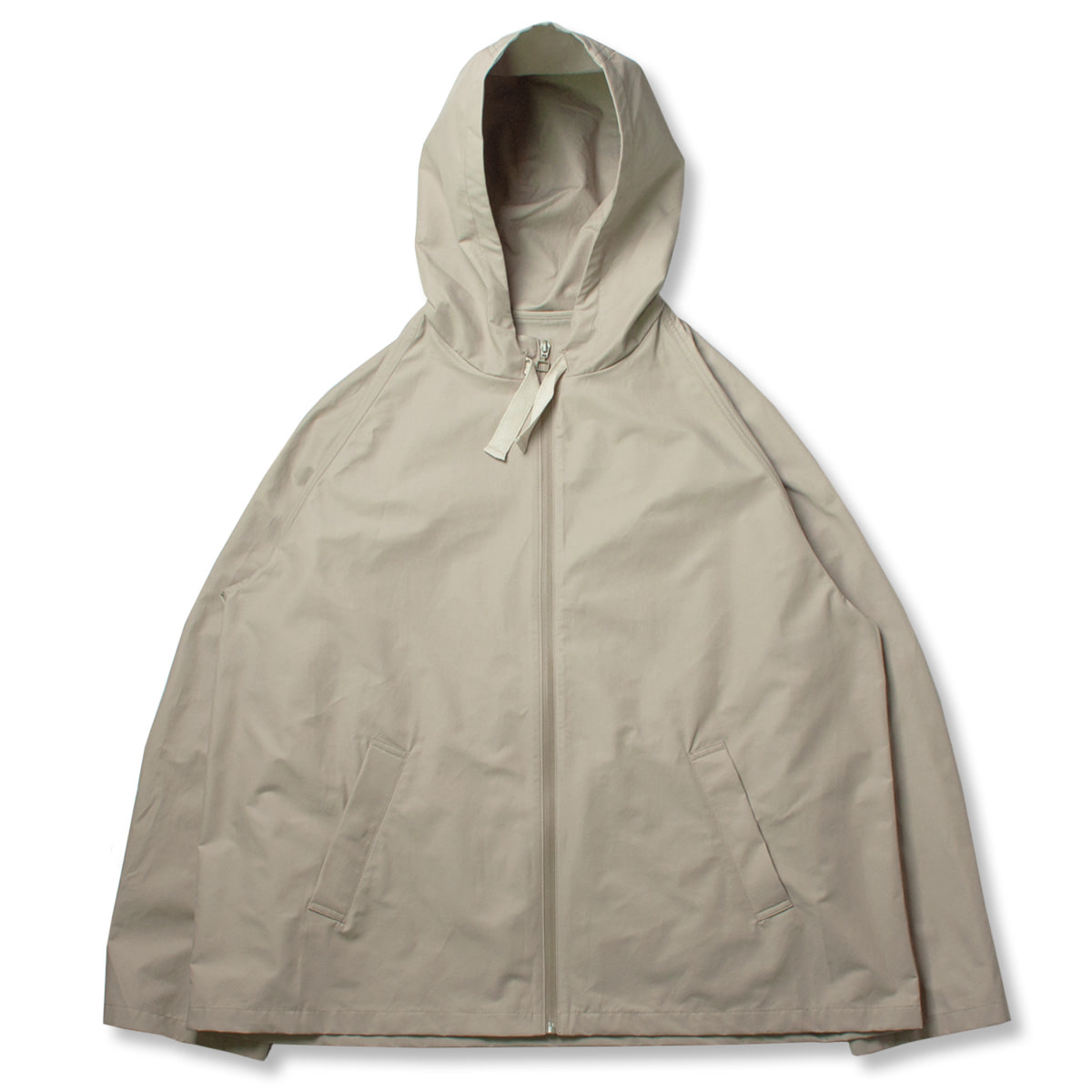 [STUDIO NICHOLSON] HOODED CROP JACKET 'BONE'