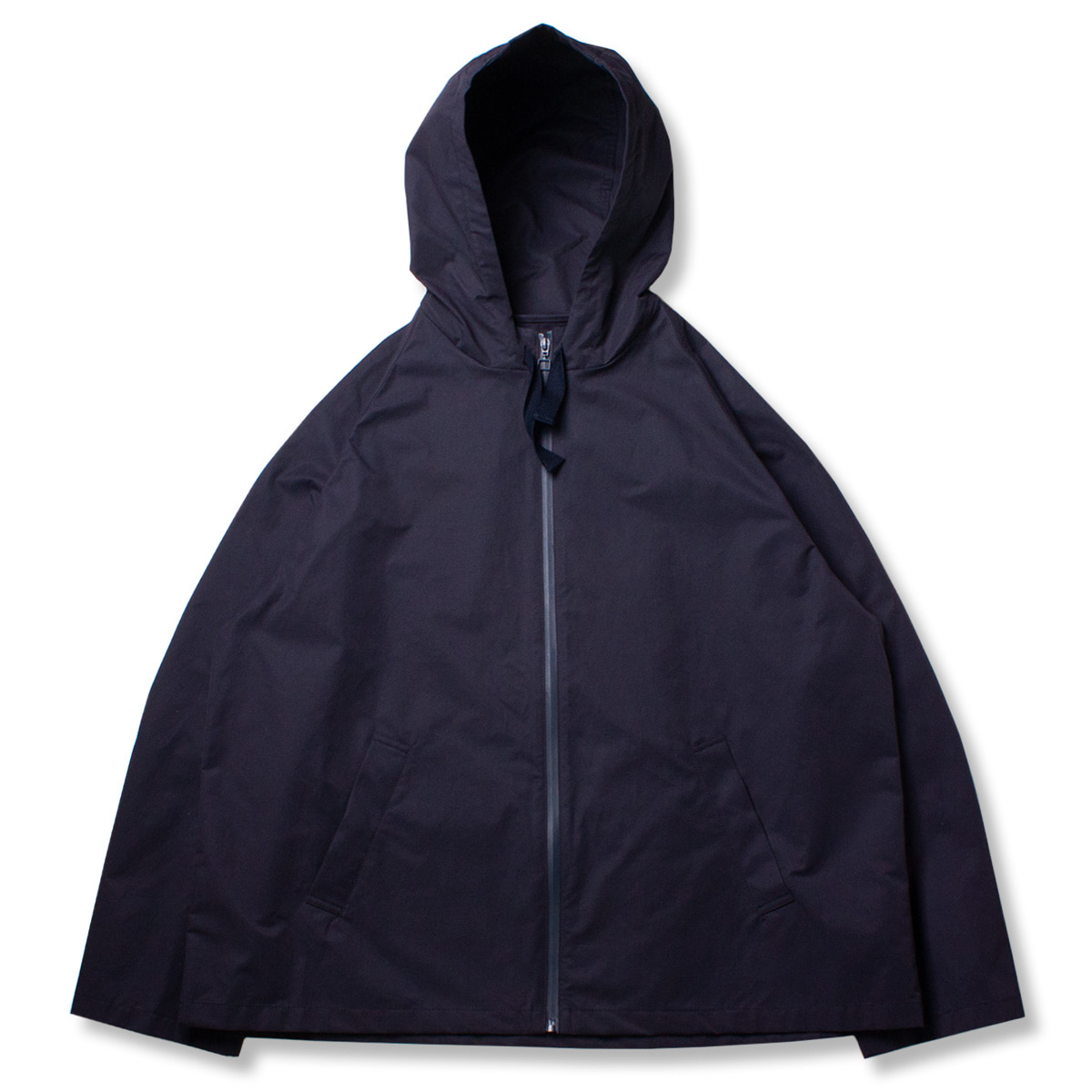 [STUDIO NICHOLSON] HOODED CROP JACKET 'DARK NAVY'