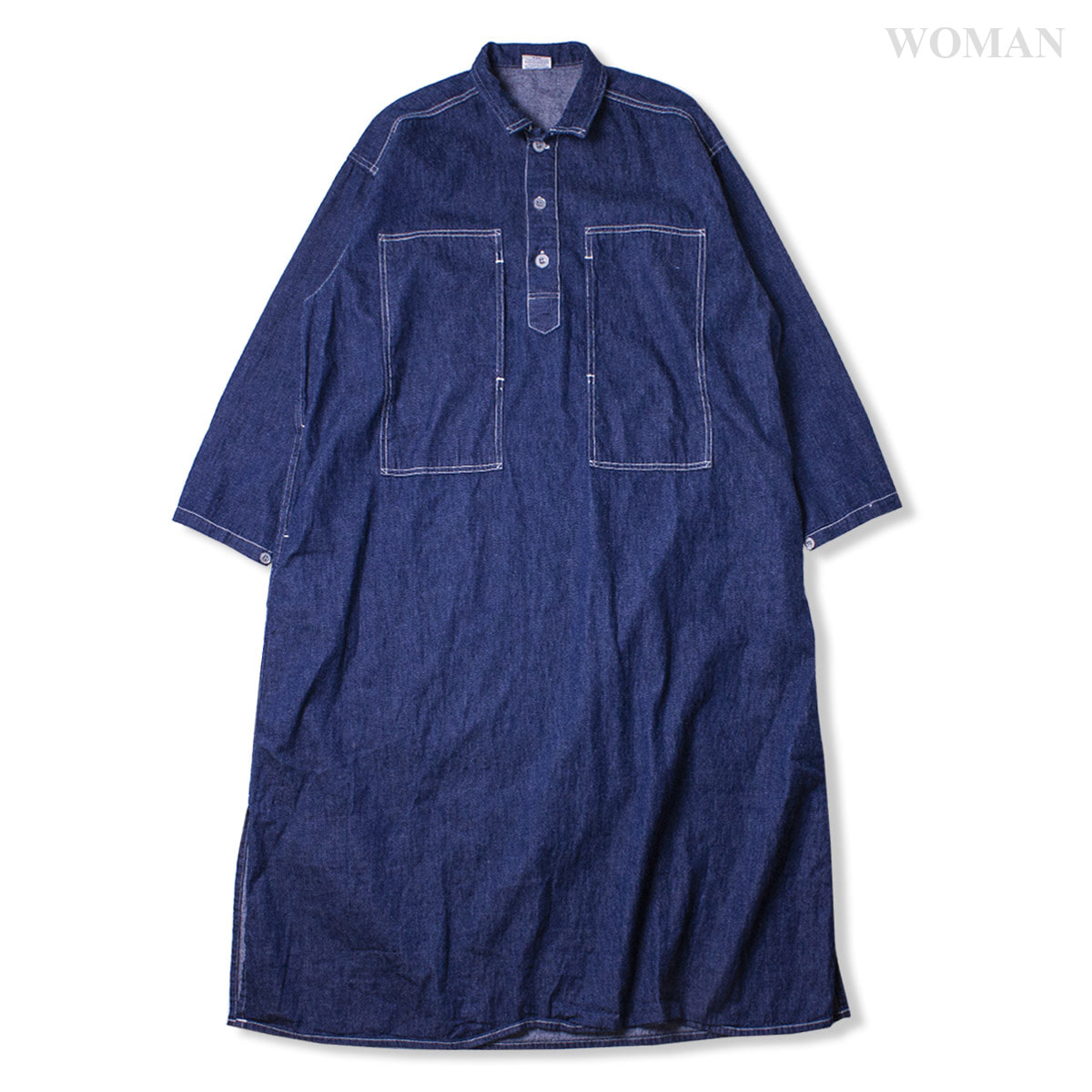 [ORSLOW] PW ONEPIECE SHIRT 'ONE WASH'