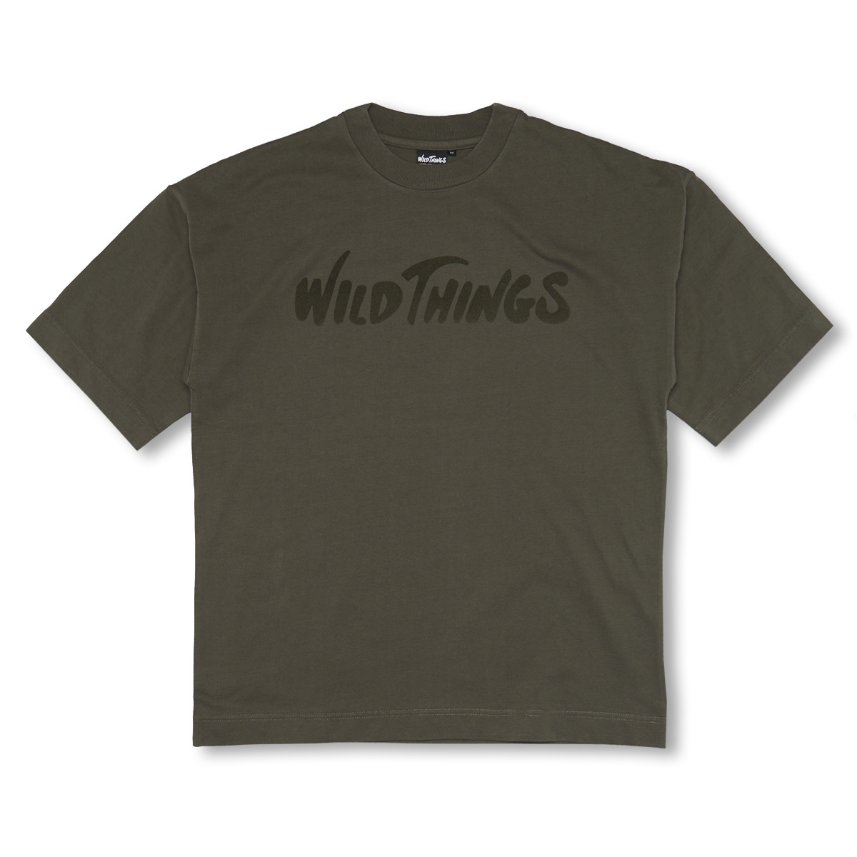 [WILD THINGS] S/S FLOCKING LOGO 'LEAF'