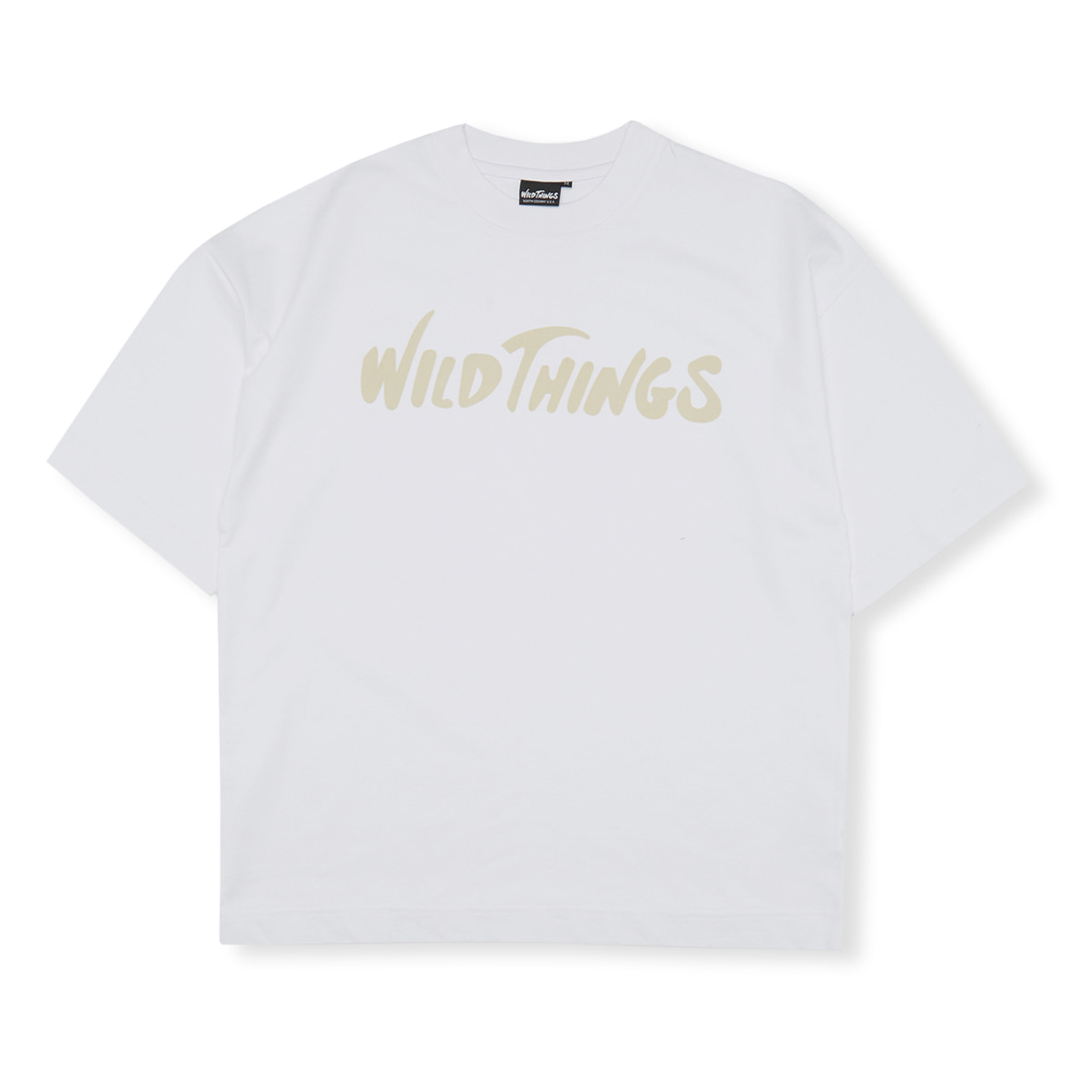 [WILD THINGS] S/S FLOCKING LOGO 'WHITE'