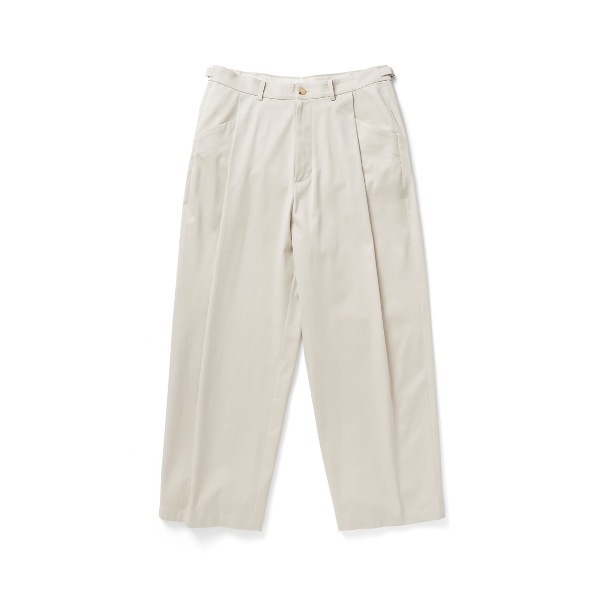[YOUTH] STRUCTURED WIDE PANTS 'IVORY'