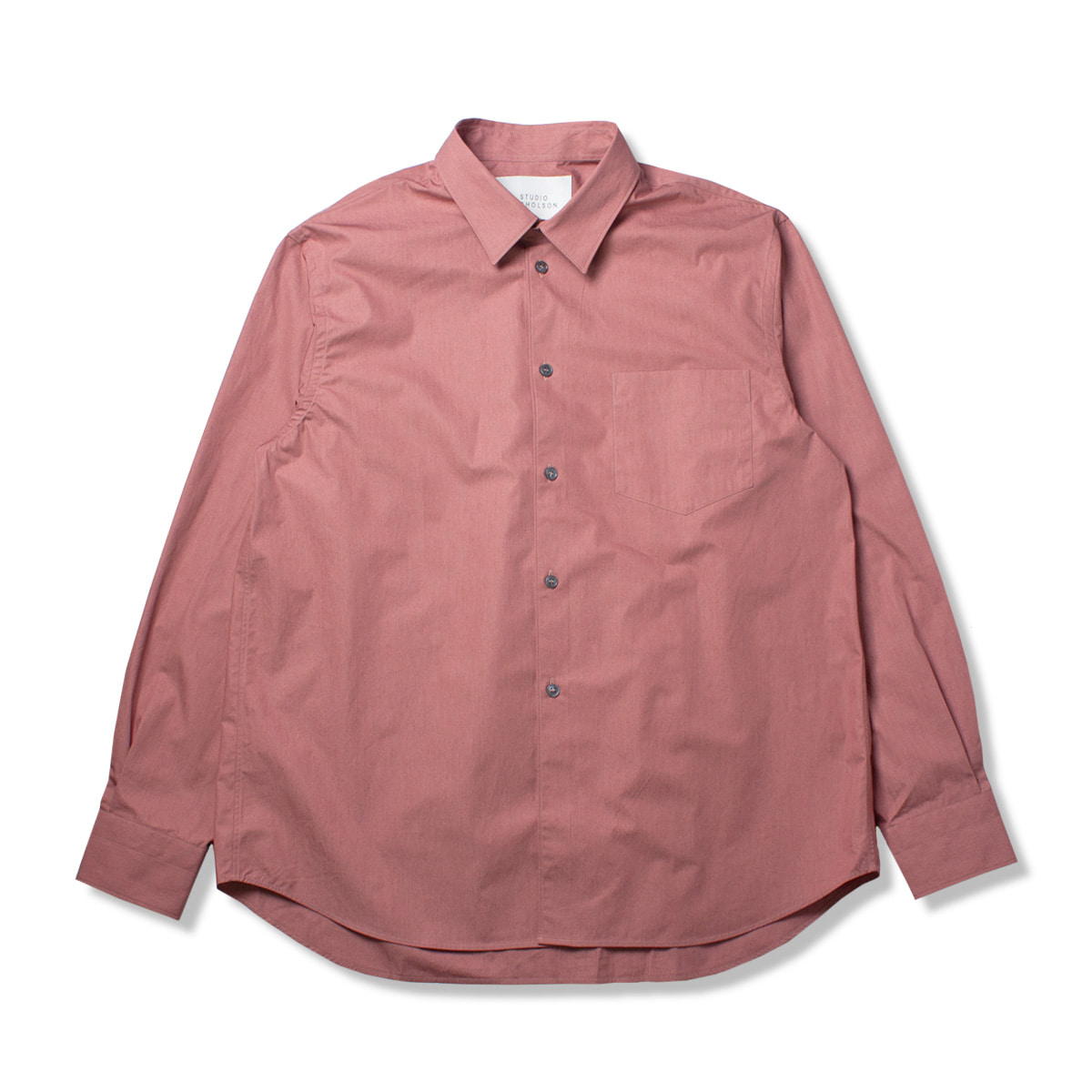 [STUDIO NICHOLSON] SOVERSIZED POINT COLLAR SHIRT 'MEDINA PINK'