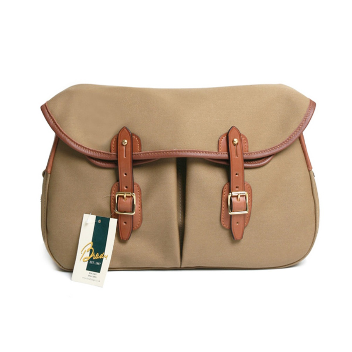 [BRADY BAGS] LARGE ARIEL TROUT FISHING BAG 'KHAKI'