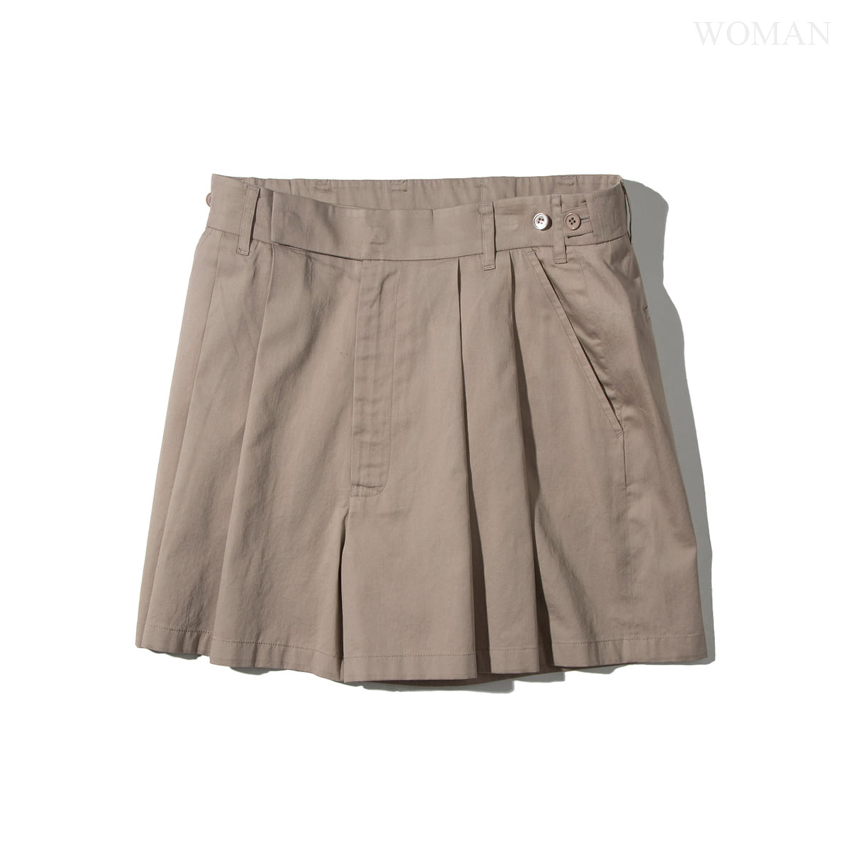 [NEITHERS] 357A-1 2-TUCK WIDE SHORTS 'BEIGE'