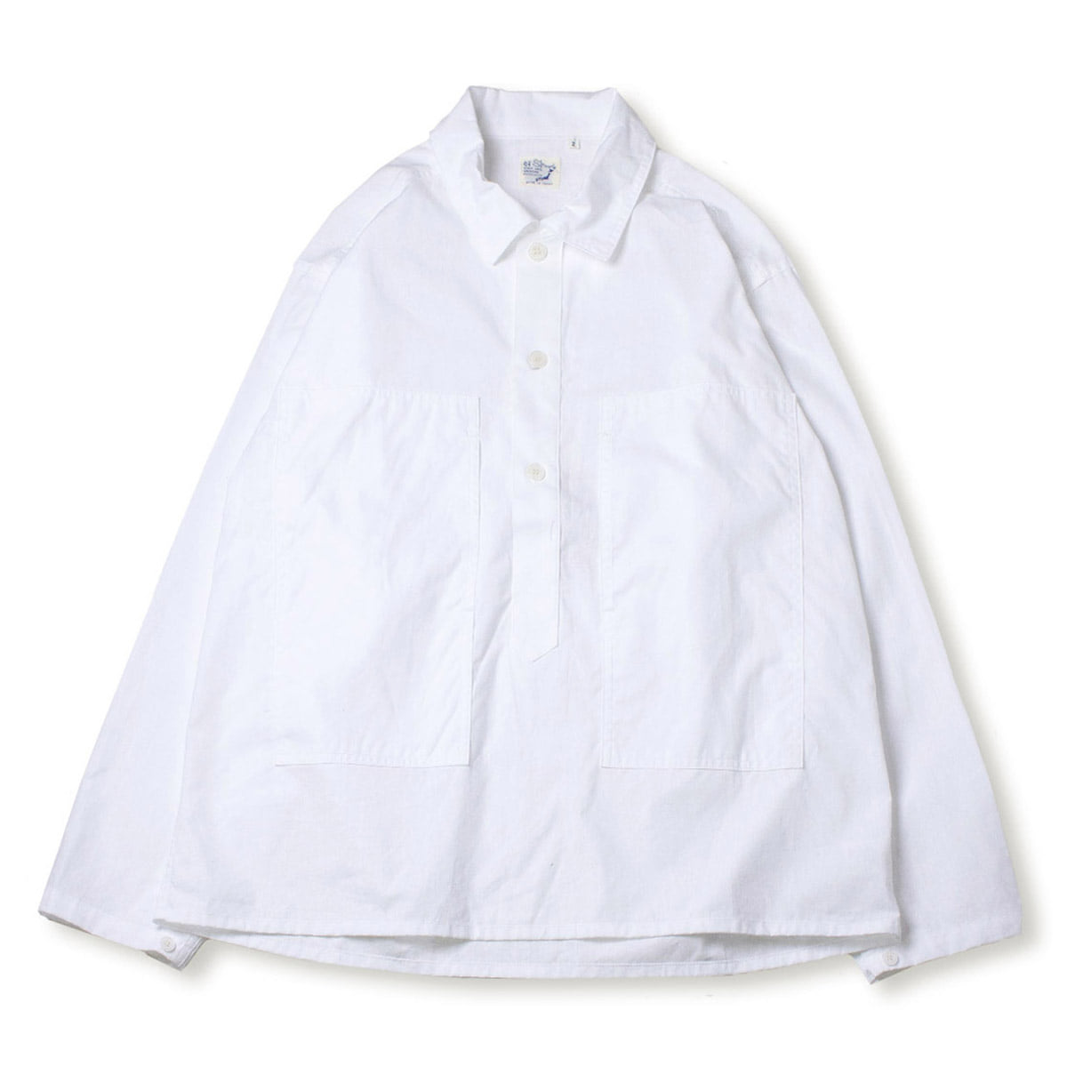 [ORSLOW] PW PULLOVER SHIIRT JACKET 'WHITE'