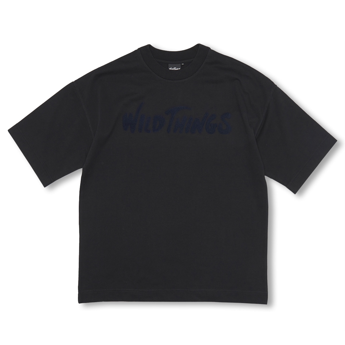 [WILD THINGS] S/S FLOCKING LOGO 'BLACK'