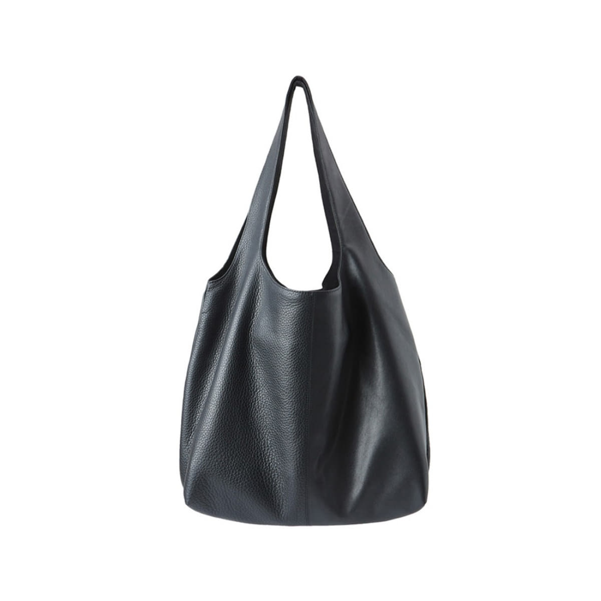[YOUTH] MIXED LEATHER SHOPPER BAG 'BLACK'