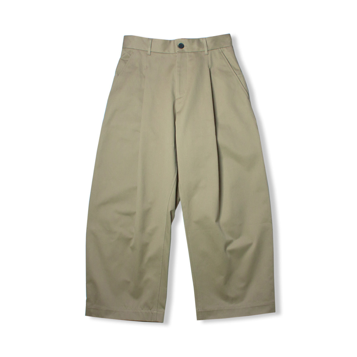 [STUDIO NICHOLSON] VOLUME PANTS 'KHAKI'