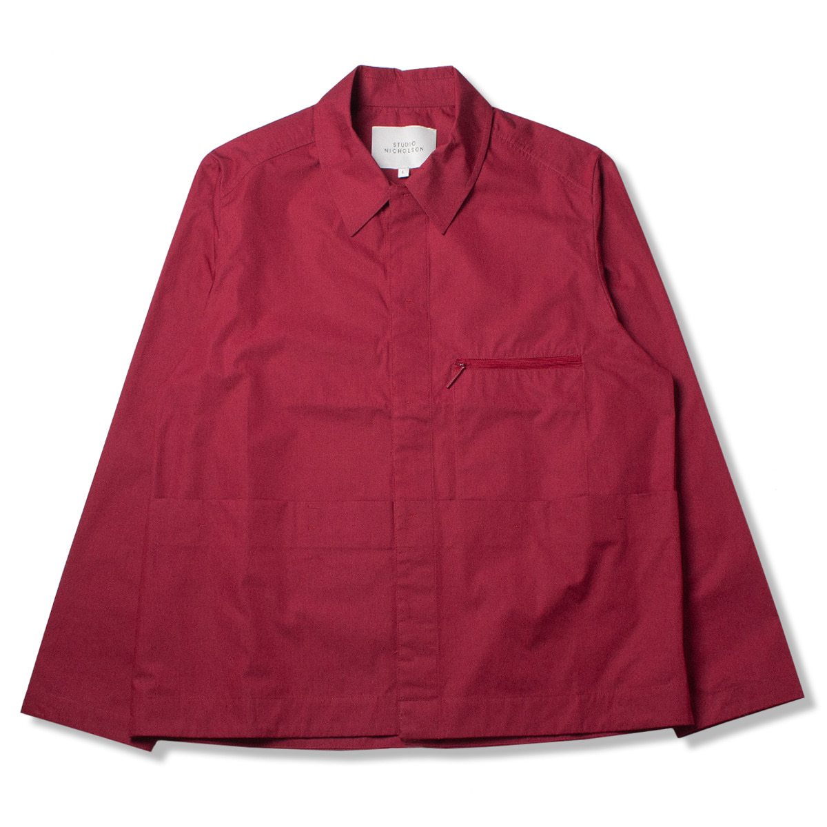 [STUDIO NICHOLSON] KANGAROO POCKET OVERSHIRT 'RUBY'