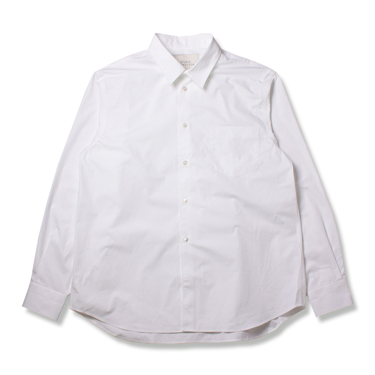 [STUDIO NICHOLSON] SOVERSIZED POINT COLLAR SHIRT 'OPTIC WHITE'