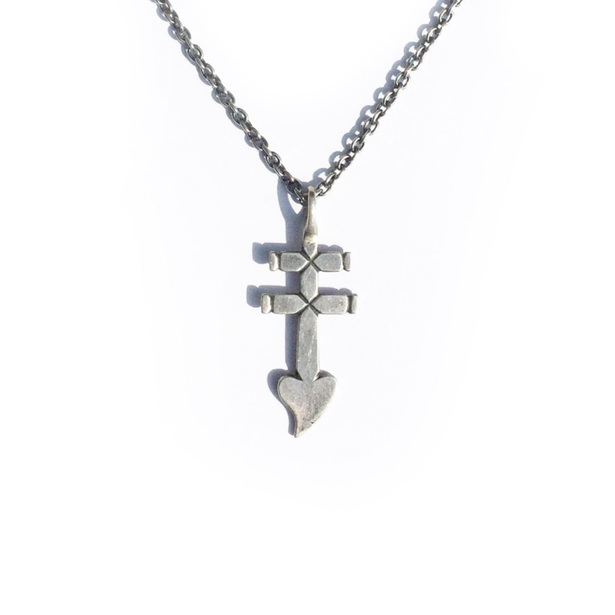 [NORTH WORKS] DOUBLE BARRED CROSS NECKLACE 'N-306'