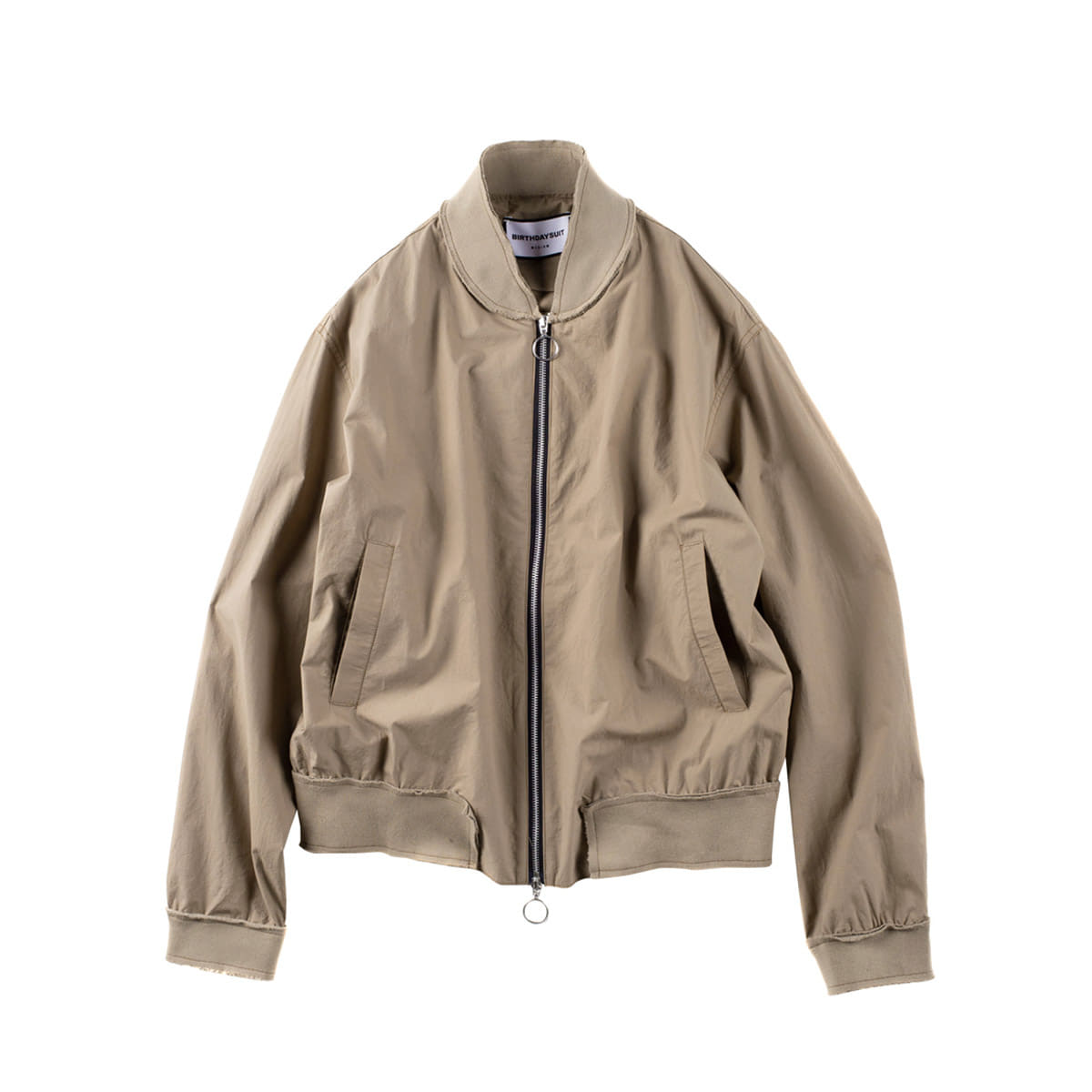 [BIRTHDAYSUIT] UNFINISHED BLOUSON 'BEIGE'