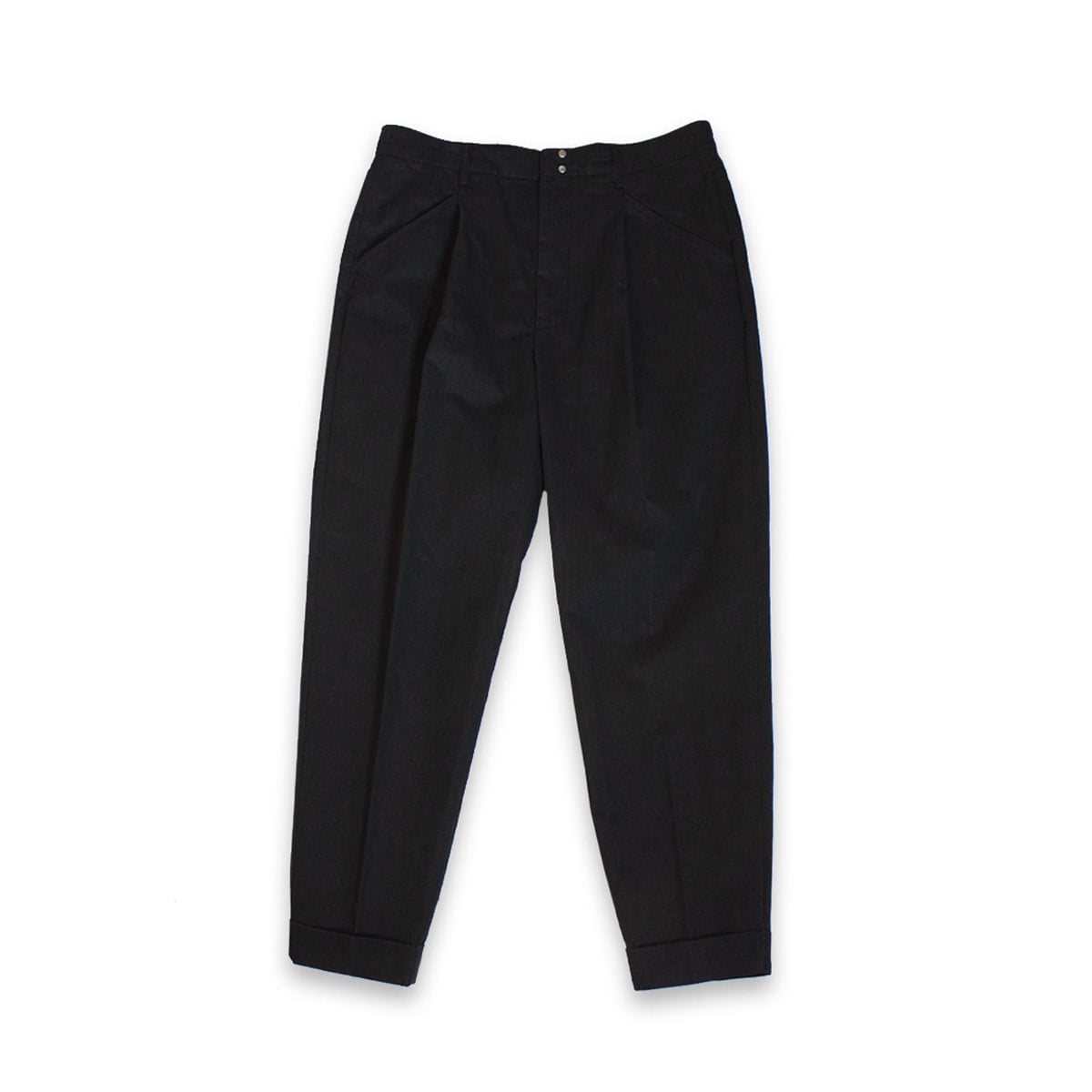 [BEHEAVYER] TUCK PANTS 'BLACK'