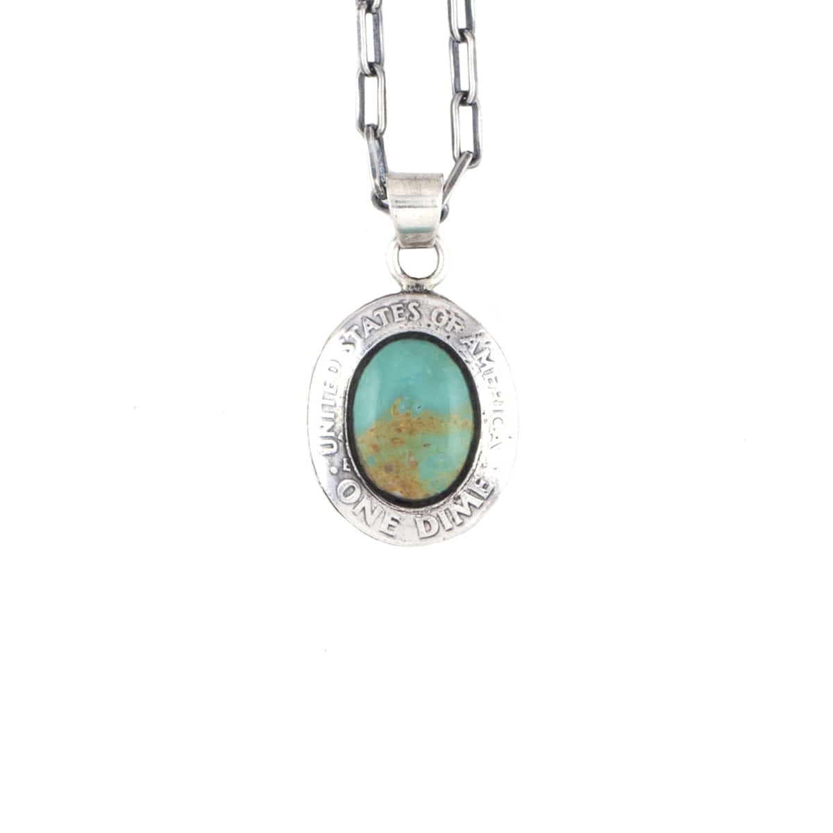 [NORTH WORKS] TURQUOISE PENDANT NECKLACE 'N-611'