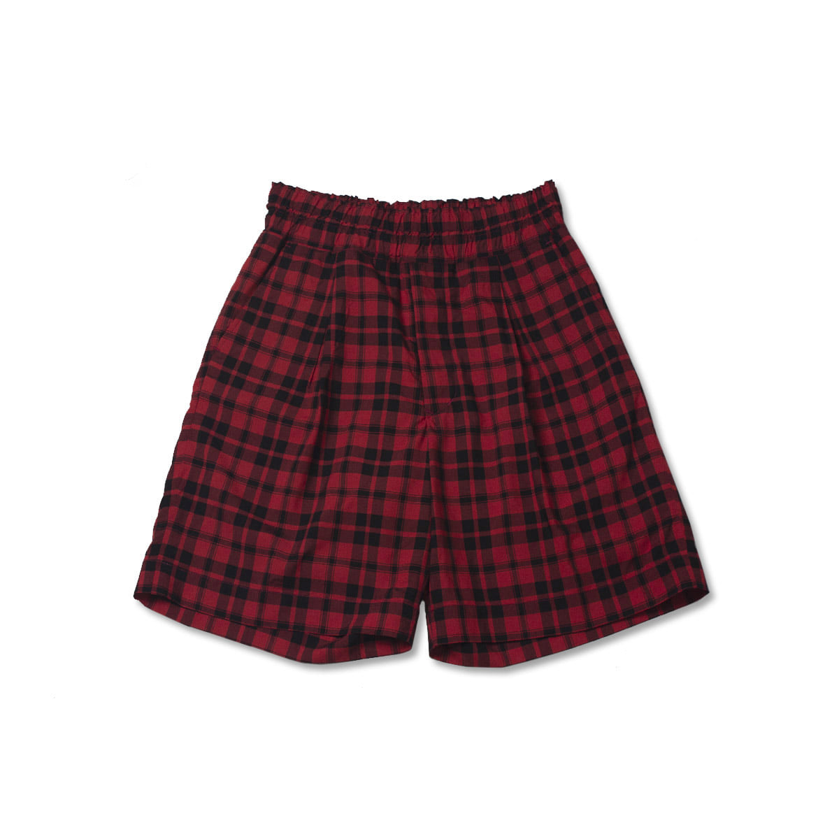 [HAVERSACK] CHECK SHORTS 'RED'