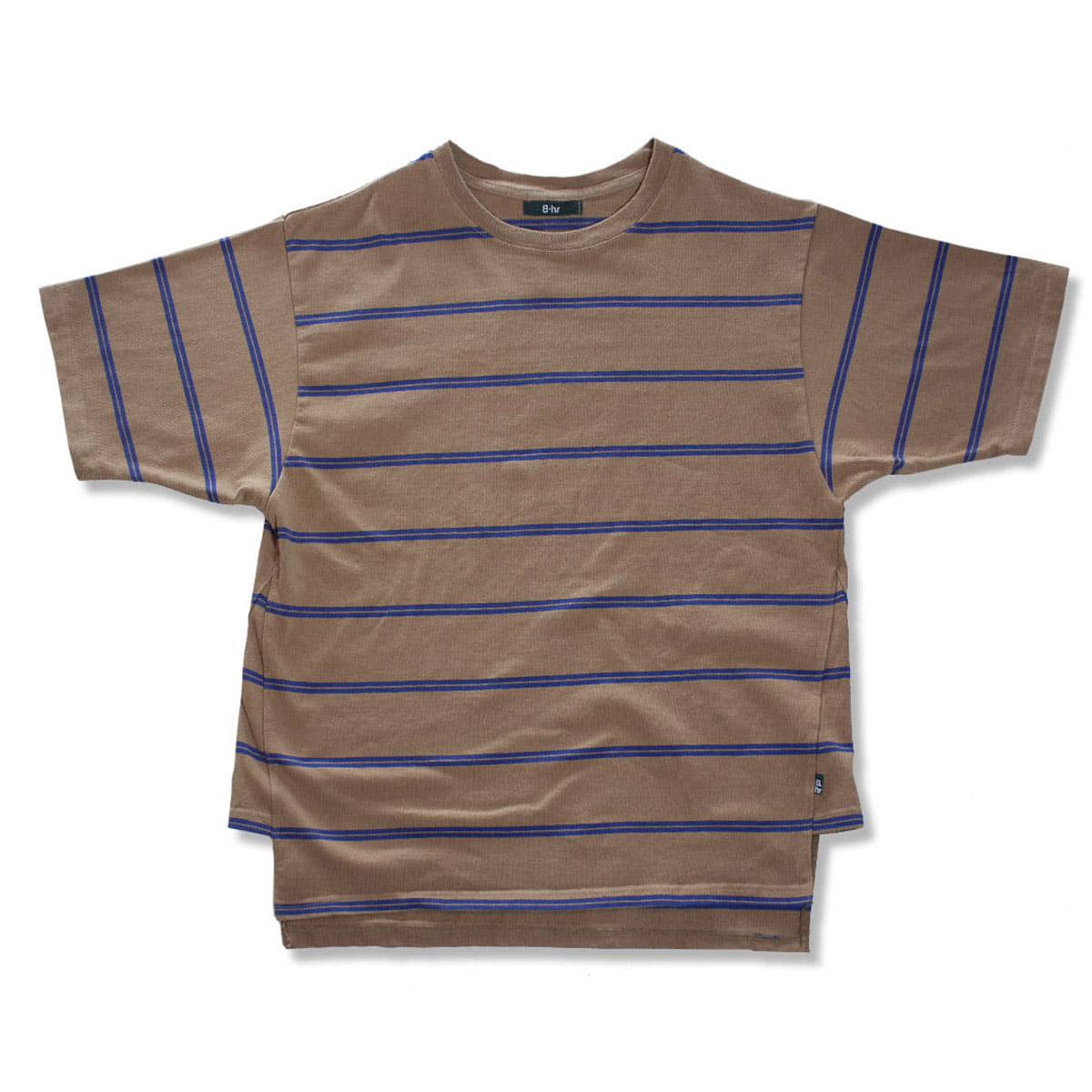 [BEHEAVYER] TUNIC T-SHIRT 'CAMAL STRIPE'