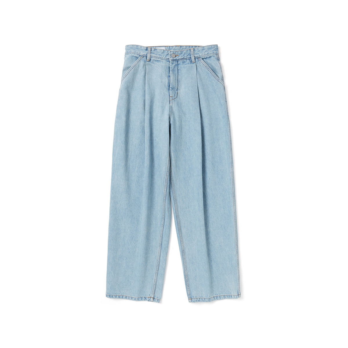 [YOUTH] STRUCTURED WIDE DENIM PANTS 'LIGHT BLUE'