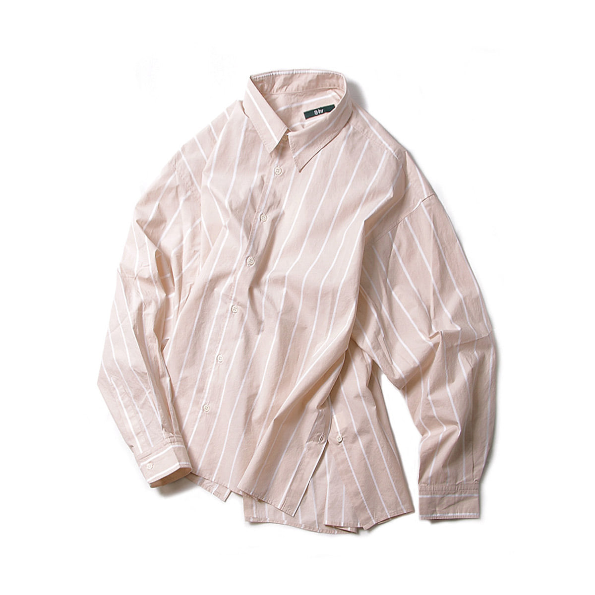 [BEHEAVYER] SIDE UP SHIRT 'BEIGE STRIPE'