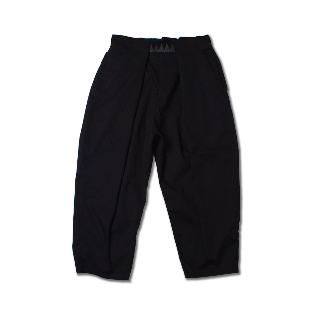 [KAPITAL] GABERGINE COTTON EASY BEACH GO PANTS 'BLACK'