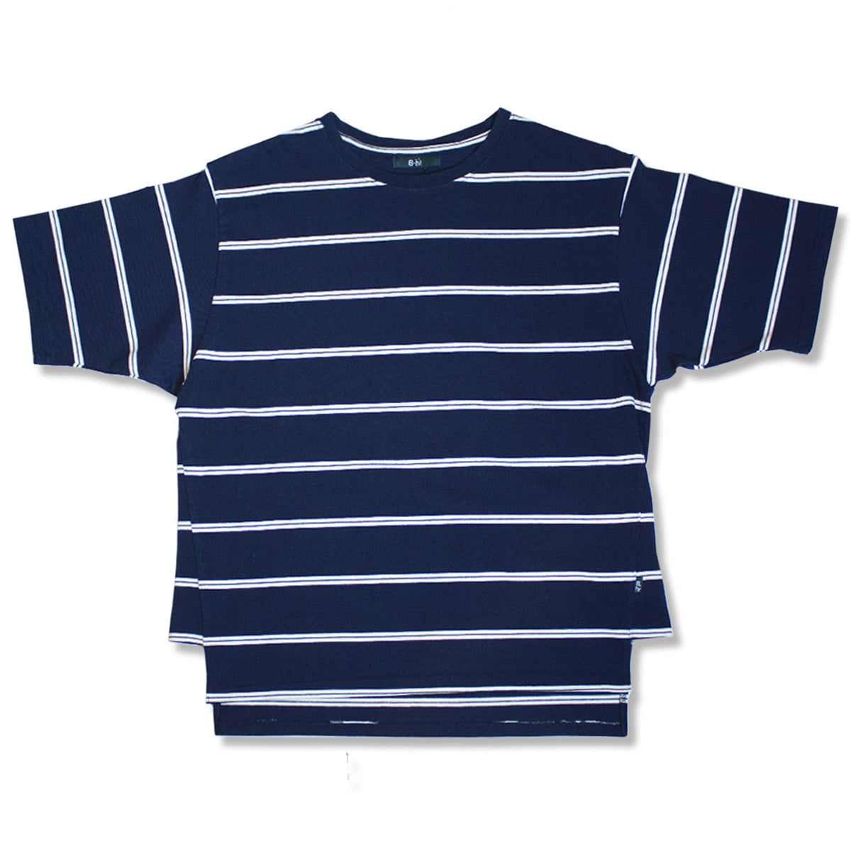 [BEHEAVYER] TUNIC T-SHIRT 'NAVY STRIPE'