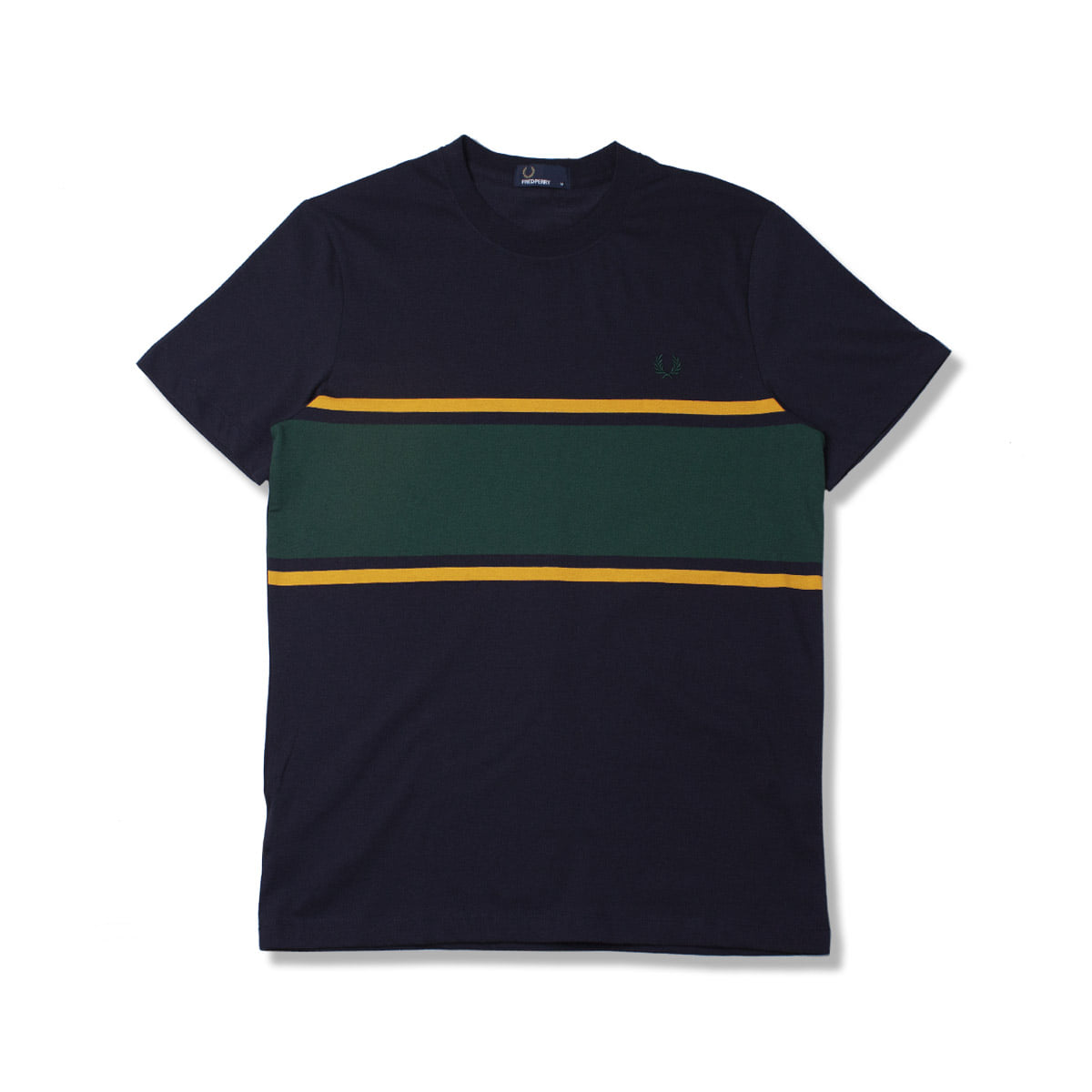 [FRED PERRY] COLOUR BLOCK T-SHIRT 'NAVY'
