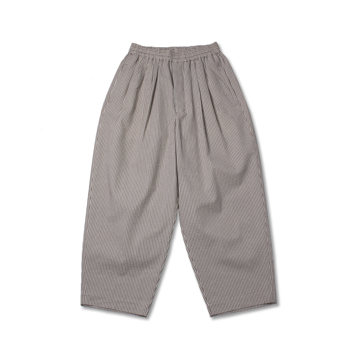 [HAVERSACK] SEERSUCKER WIDE EASY PANTS 'BROWN'