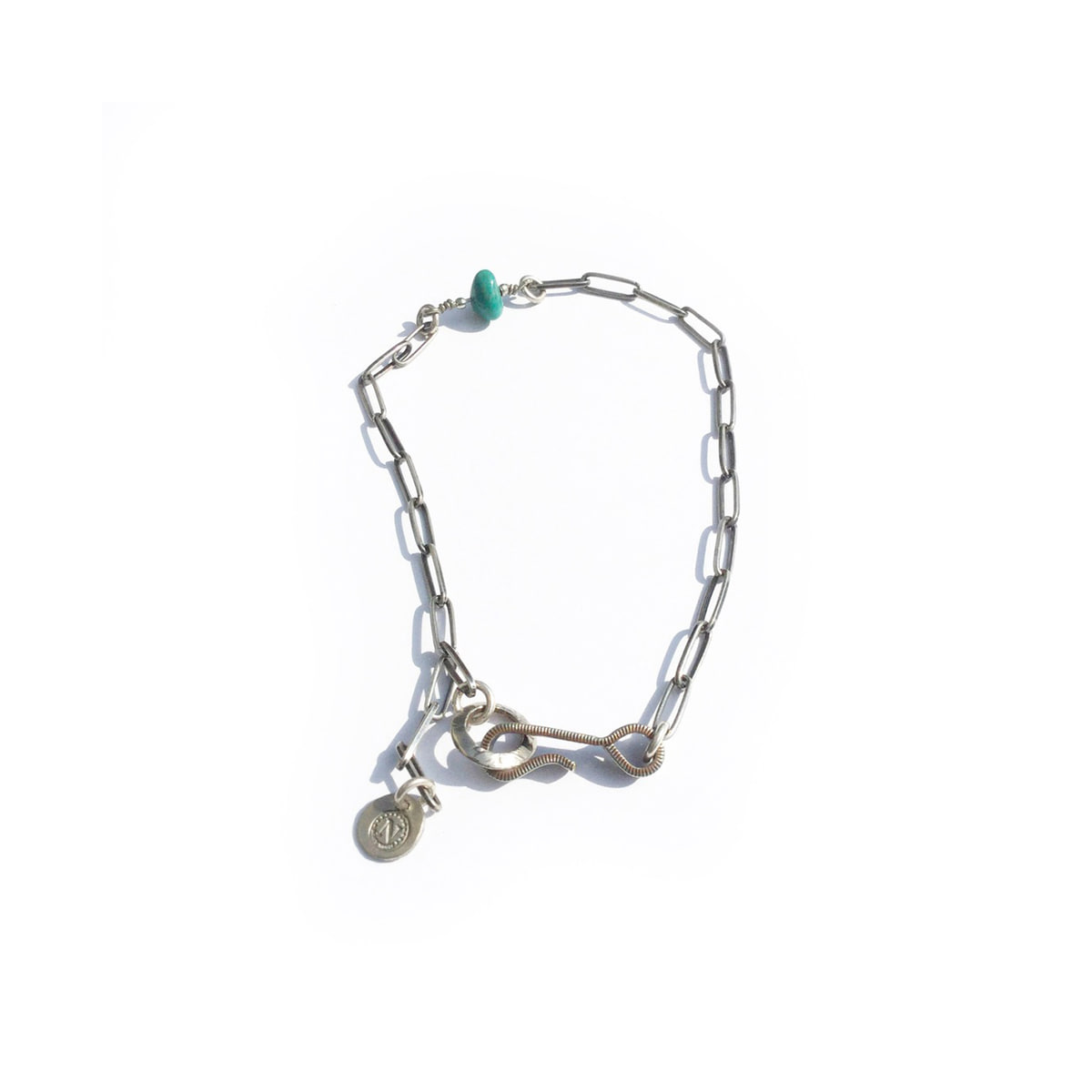 [NORTH WORKS] NICKEL 10¢HOOK NAVAJO CHAIN ANKLET 'N-317'