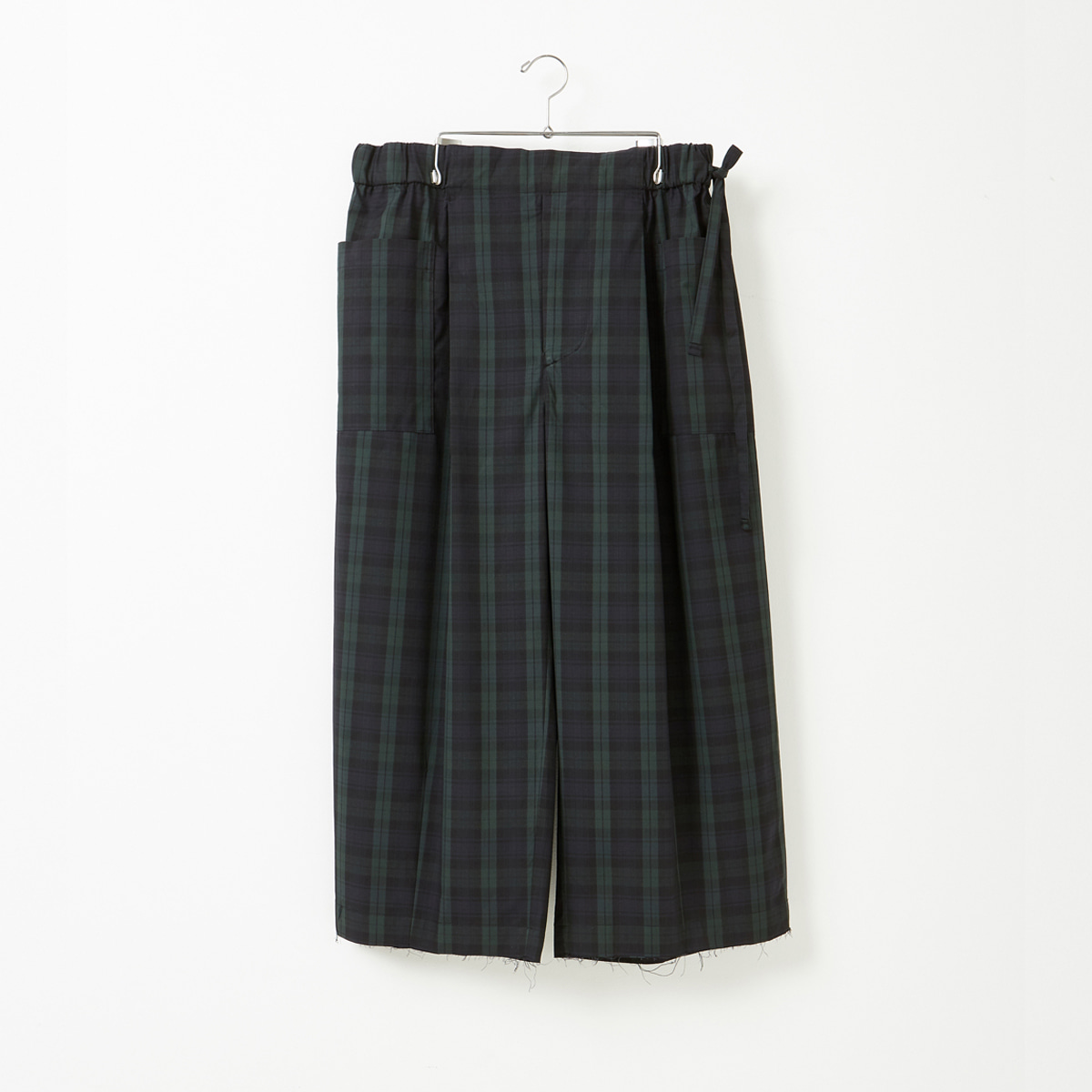 [YOUTH] WIDE CROPPED PANTS 'BLACK WATCH'