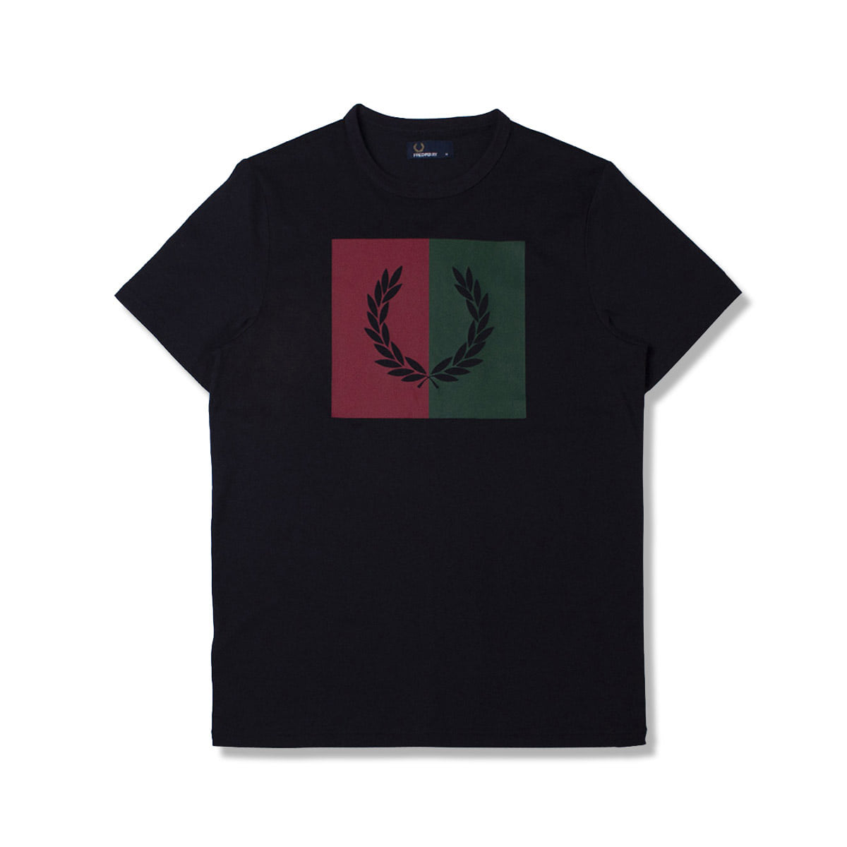 [FRED PERRY] SPLIT LAUREL WREATH T-SHIRT 'NAVY'