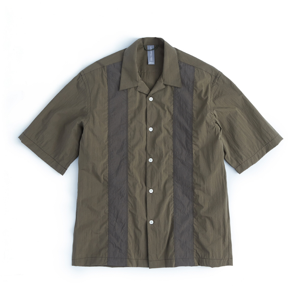 [UNAFFECTED] COLOR BLOCKED SHIRT 'OLIVE'