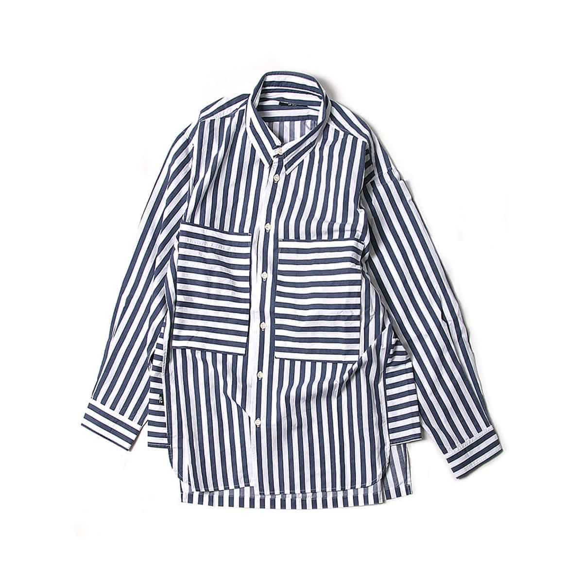 [BEHEAVYER] POCKET TUNIM SHIRT 'BLUE STRIPE'