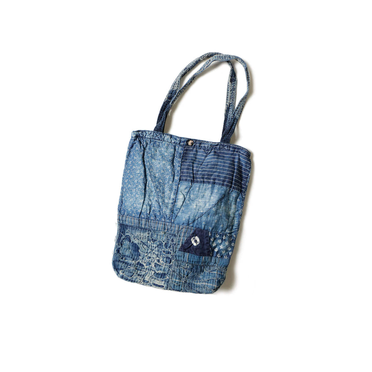 [KAPITAL] DENIM PATCHWORK TOTE BAG 'INDGO'