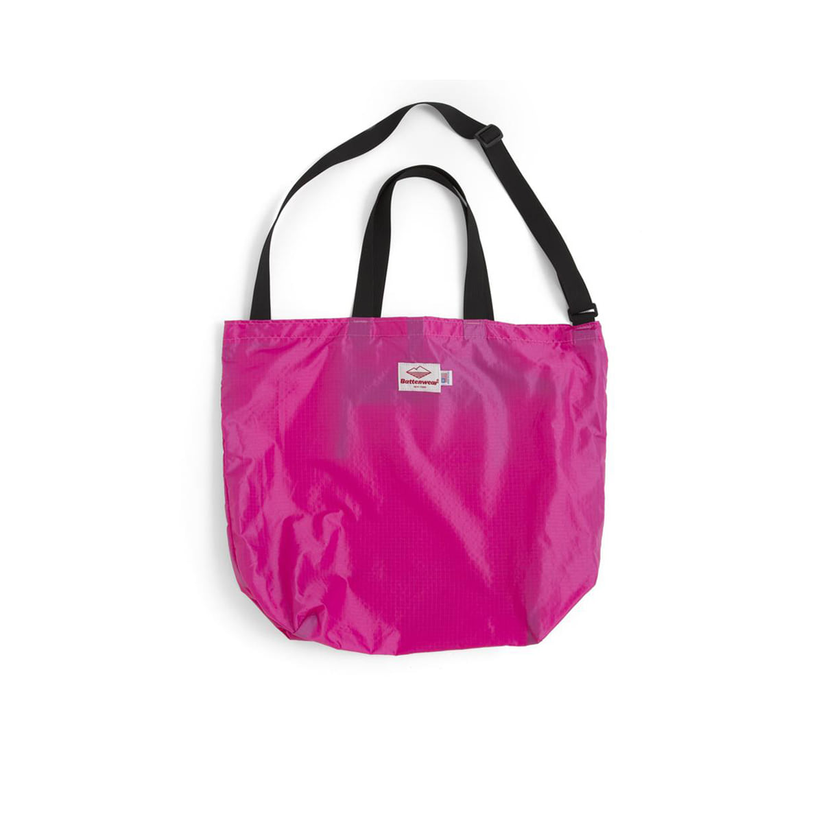 [BATTENWEAR] PACKABLE TOTE 'FUCHSIA/BLACK'