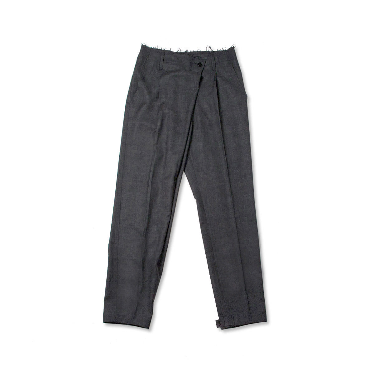 [GAKURO] WRAP PANTS 'GREY CHECK'