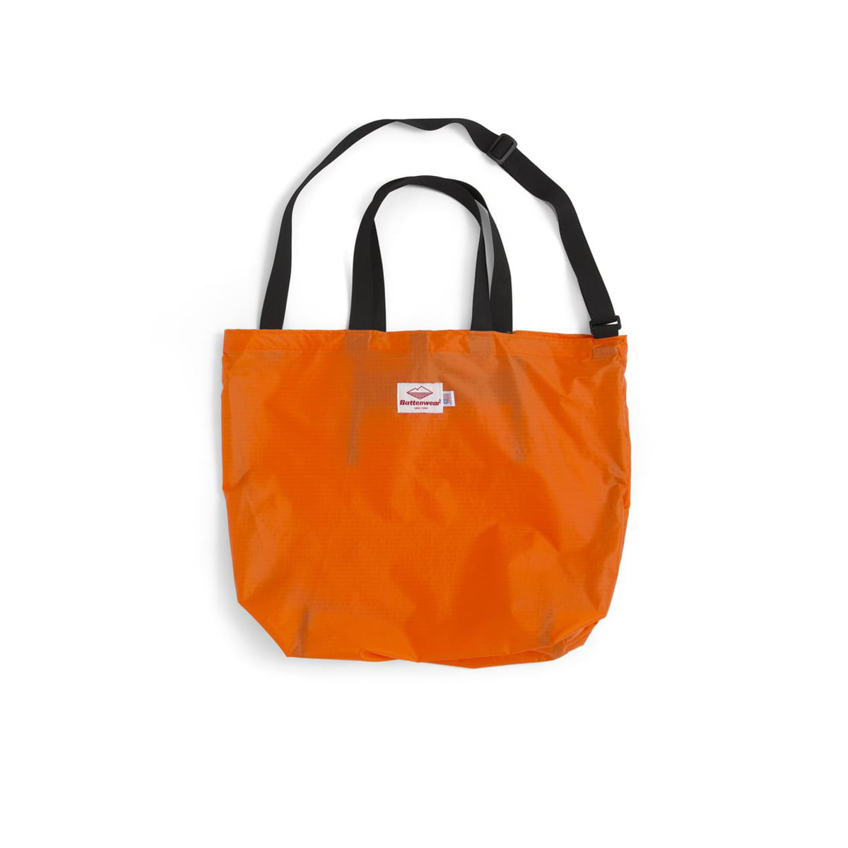 [BATTENWEAR] PACKABLE TOTE 'ORANGE/BLACK'