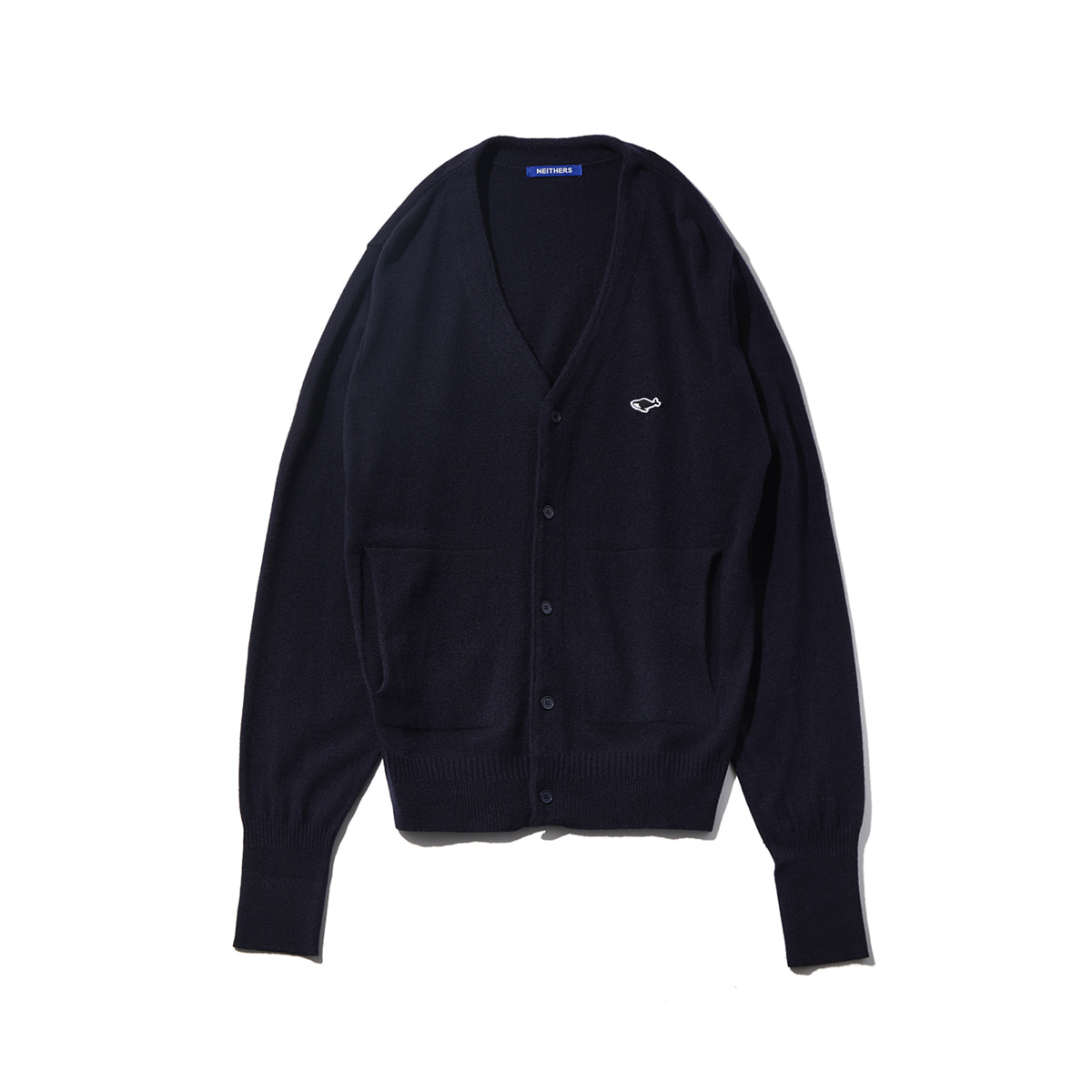 [NEITHERS] 107B-3 MERINO WOOL CARDIGAN 'NAVY'