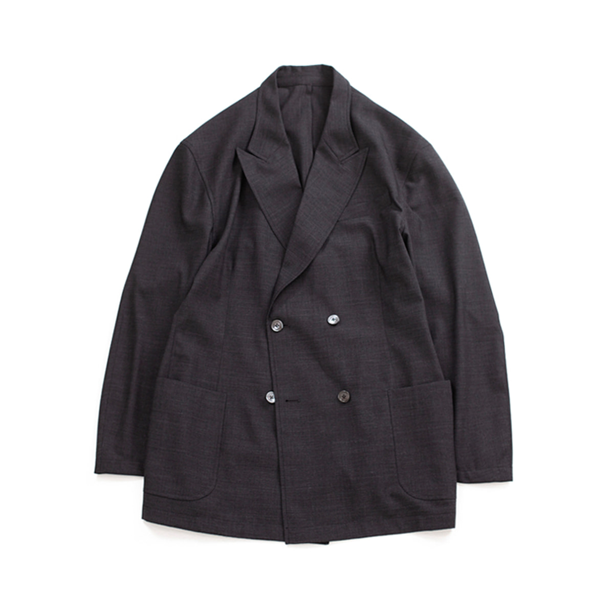 [BROWNYARD ZERO] ZERO DOUBLE BREASTED JACKET 'GREY'
