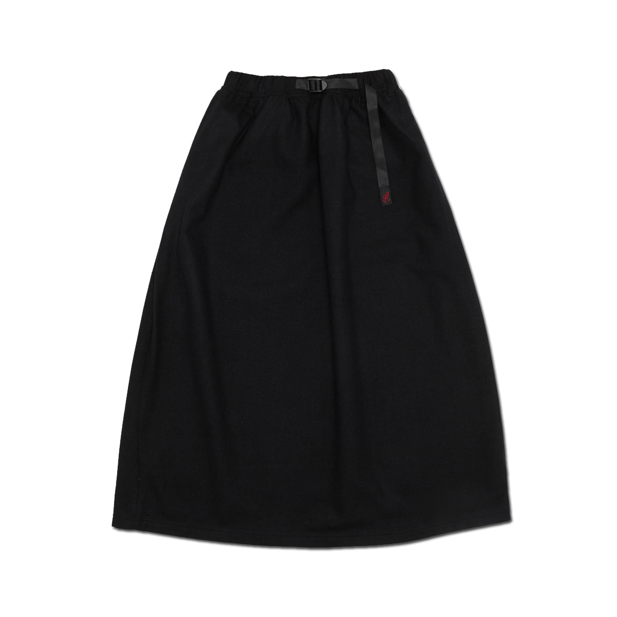 [GRAMICCI] WOOL BLEND LONG FLARE SKIRT 'BLACK'