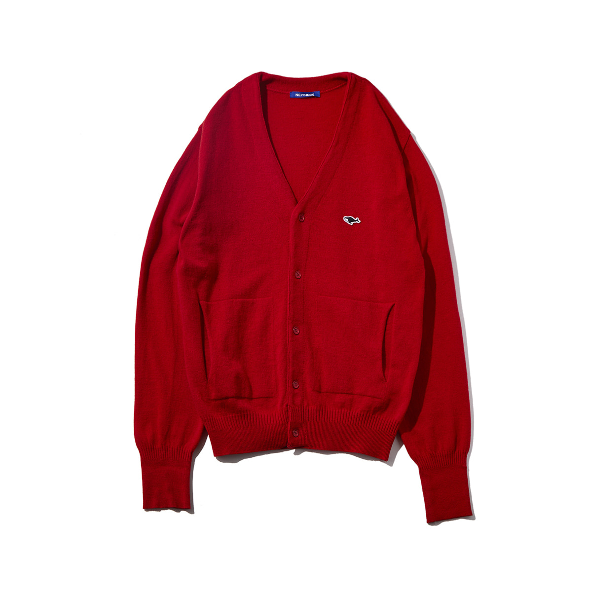 [NEITHERS] 107B-3 MERINO WOOL CARDIGAN 'RED'