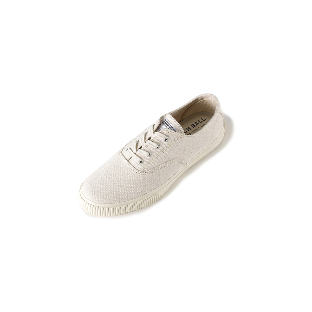 [BRUSHER] CATCH BALL DECKSHOE 'SHELL WHITE'