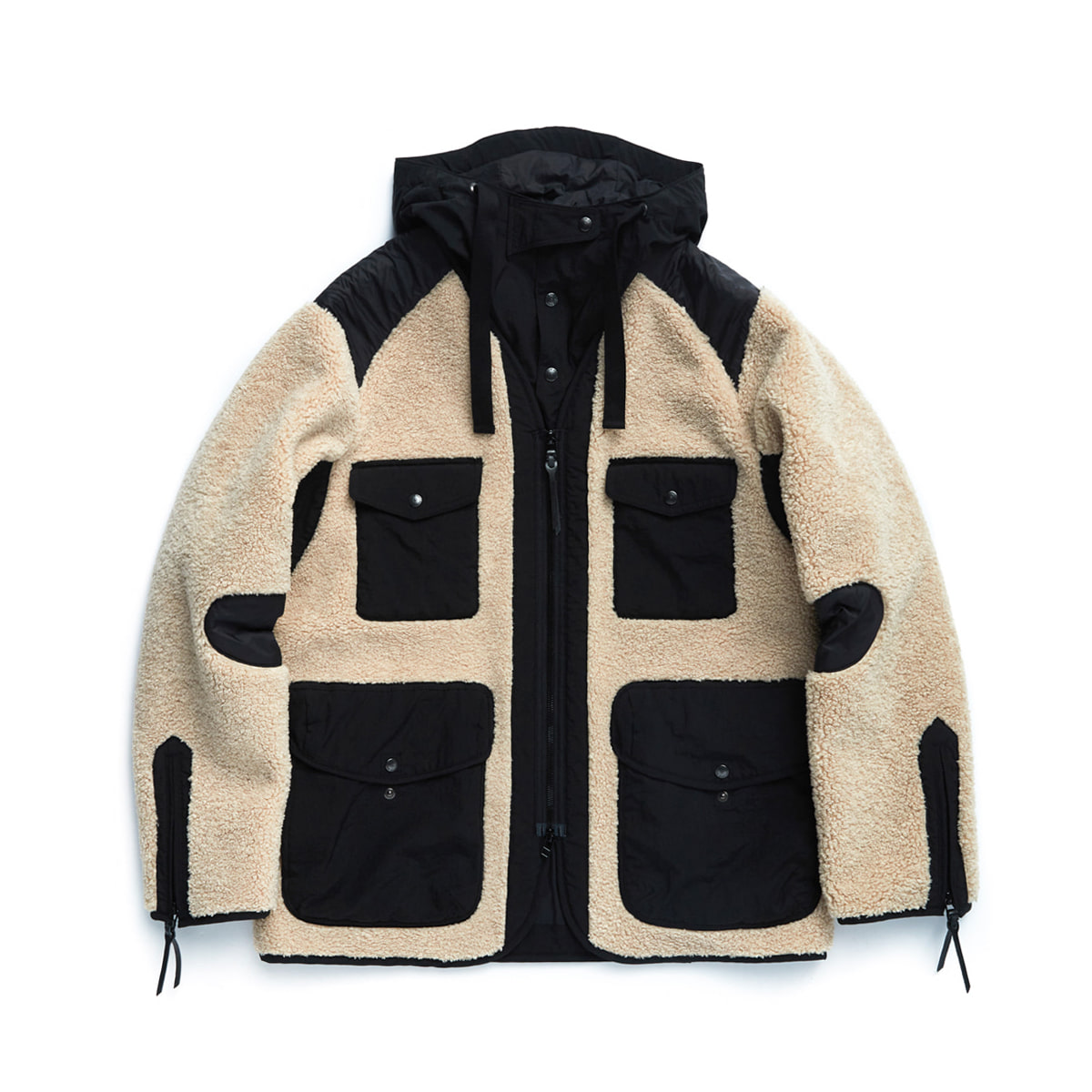 [EASTLOGUE] TRAVELER JACKET 'BEIGE/BLACK'