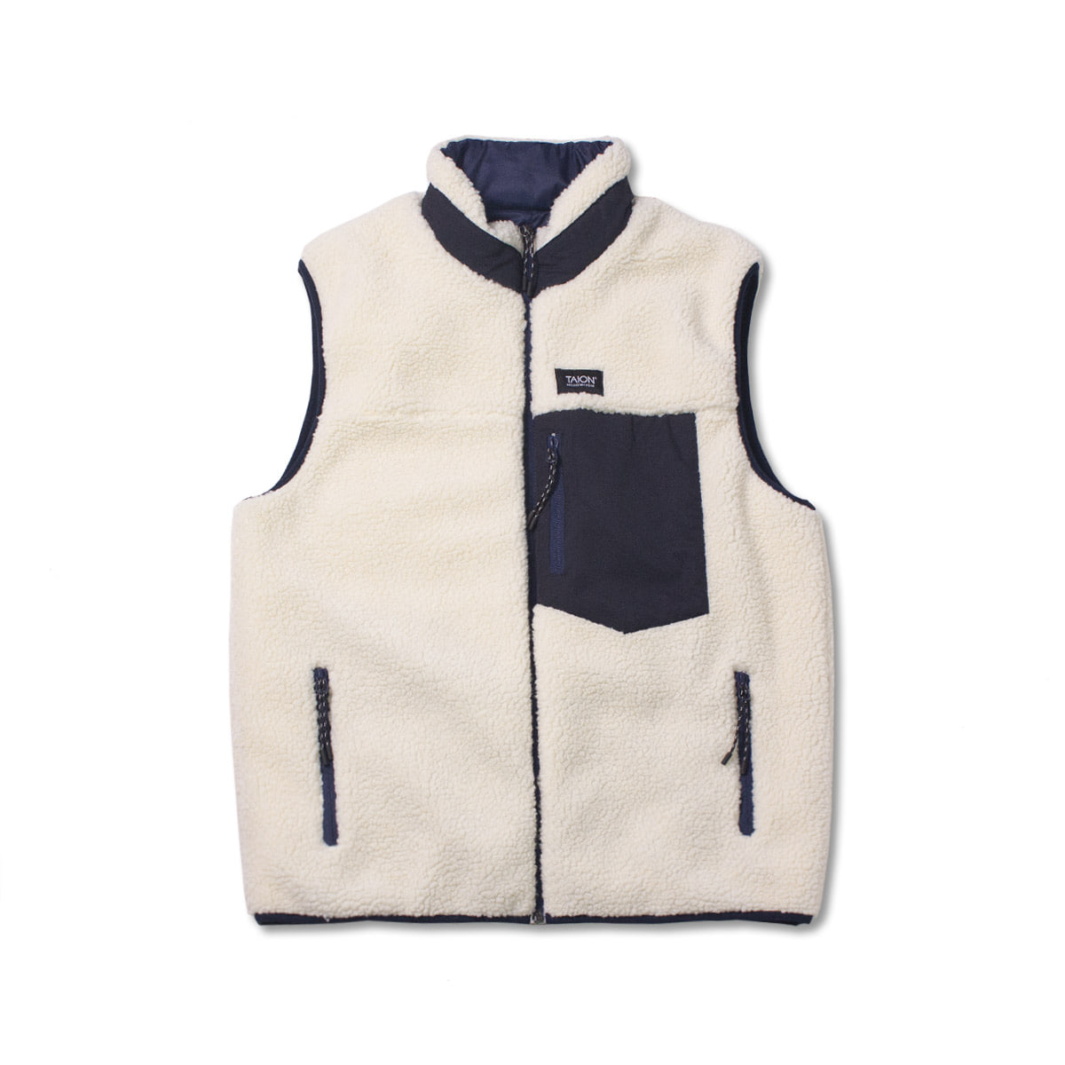 [TAION]  DOWN X BOA REVERSIBLE DOWN VEST (TAION-R002MB) 'NAVY'